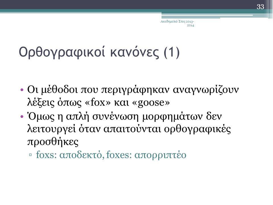 Ορθογραφικοί κανόνες (1)