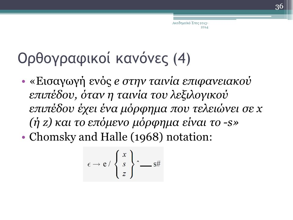 Ορθογραφικοί κανόνες (4)
