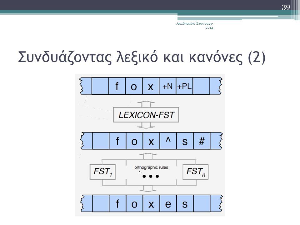 Συνδυάζοντας λεξικό και κανόνες (2)