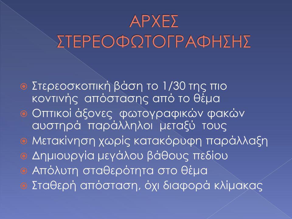 ΑΡΧΕΣ ΣΤΕΡΕΟΦΩΤΟΓΡΑΦΗΣΗΣ