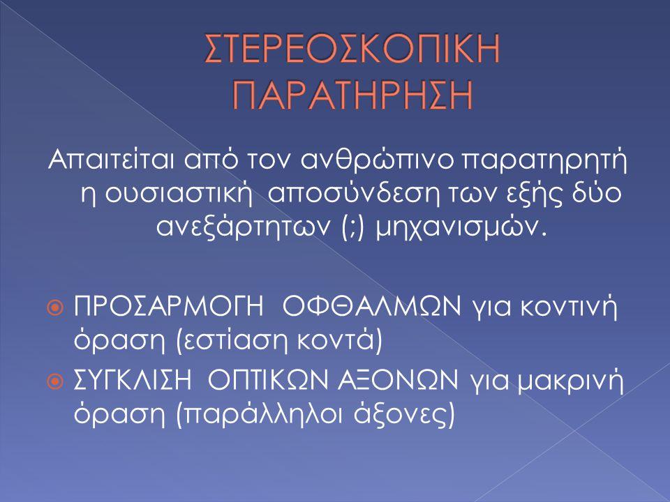ΣΤΕΡΕΟΣΚΟΠΙΚΗ ΠΑΡΑΤΗΡΗΣΗ