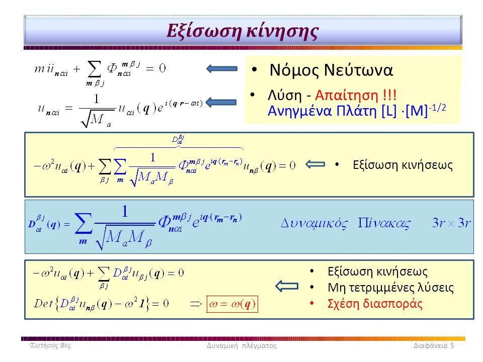 Εξίσωση κίνησης Νόμος Νεύτωνα