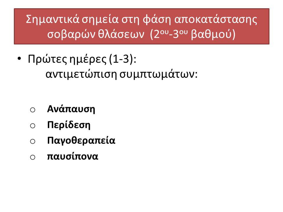 Πρώτες ημέρες (1-3): αντιμετώπιση συμπτωμάτων: