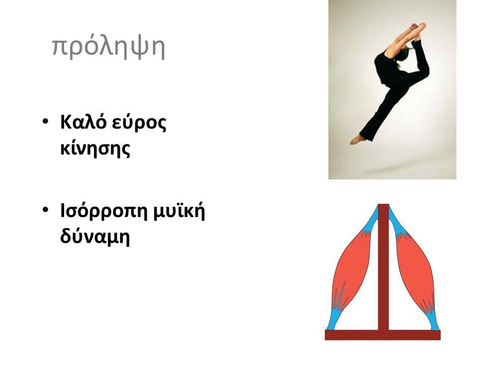 πρόληψη Καλό εύρος κίνησης Ισόρροπη μυϊκή δύναμη