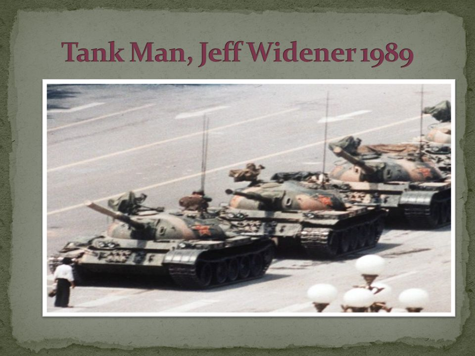 Tank Man, Jeff Widener 1989