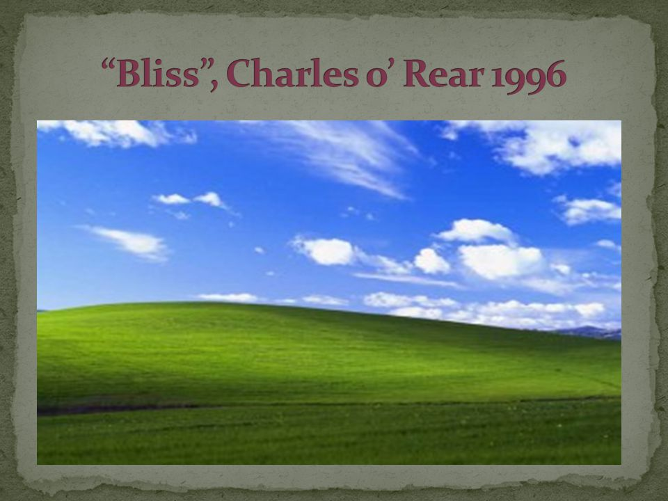 Bliss , Charles o' Rear 1996