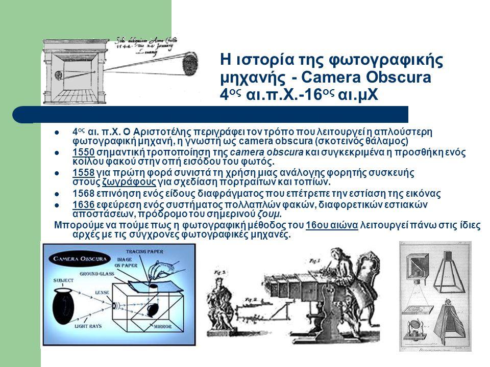 Η ιστορία της φωτογραφικής μηχανής - Camera Obscura 4ος αι. π. Χ