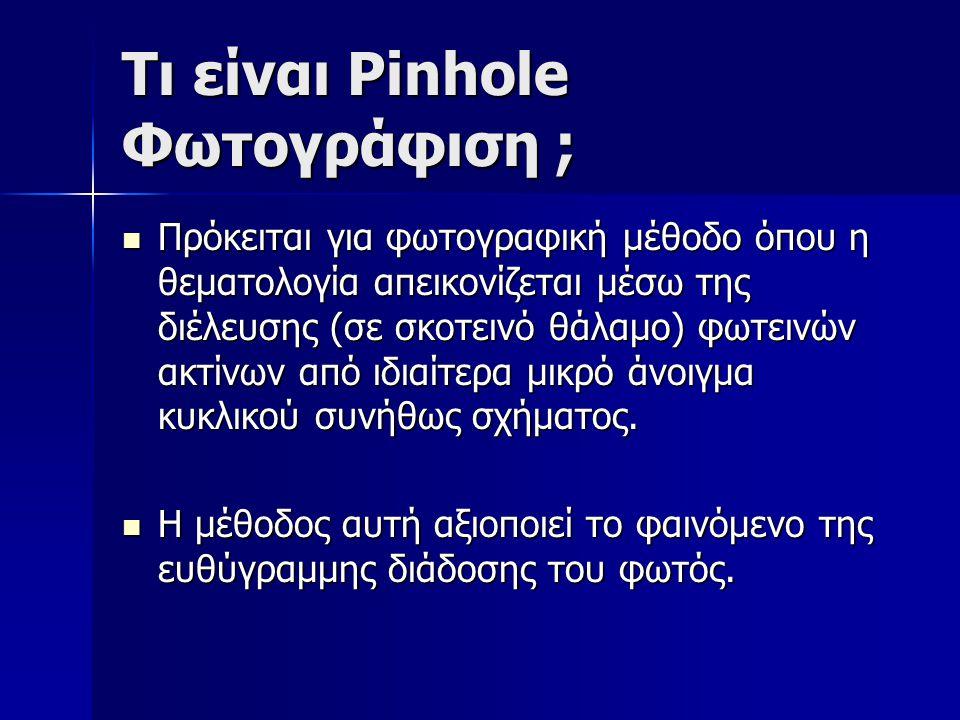 Τι είναι Pinhole Φωτογράφιση ;