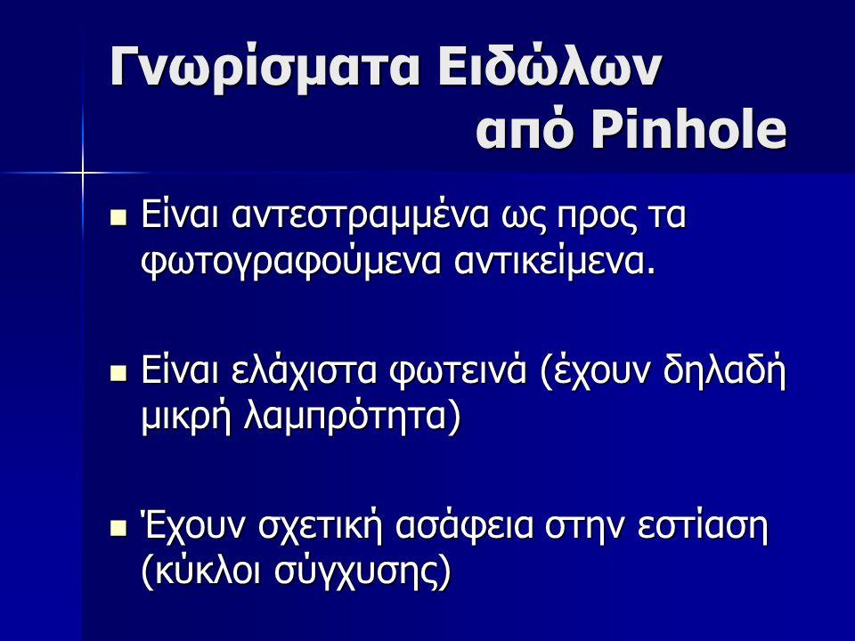 Γνωρίσματα Ειδώλων από Pinhole