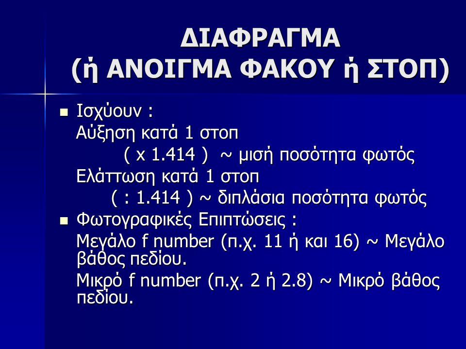 ΔΙΑΦΡΑΓΜΑ (ή ΑΝΟΙΓΜΑ ΦΑΚΟΥ ή ΣΤΟΠ)