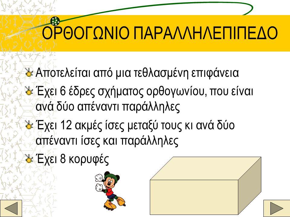 ΟΡΘΟΓΩΝΙΟ ΠΑΡΑΛΛΗΛΕΠΙΠΕΔΟ