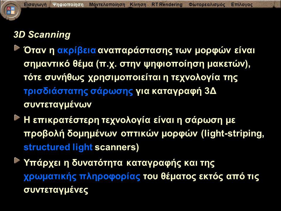 Ψηφιοποίηση 3D Scanning.