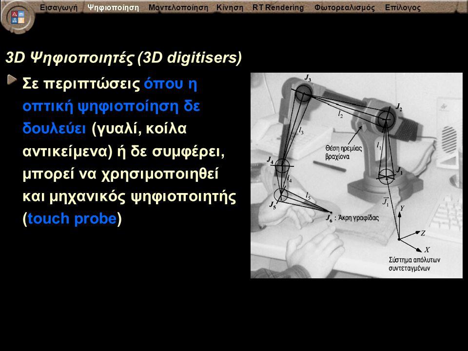 3D Ψηφιοποιητές (3D digitisers)