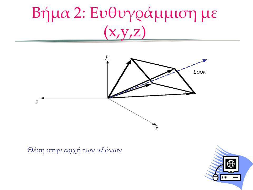 Βήμα 2: Ευθυγράμμιση με (x,y,z)