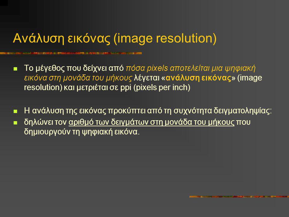 Ανάλυση εικόνας (image resolution)