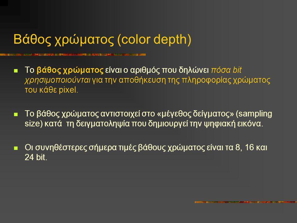 Βάθος χρώματος (color depth)
