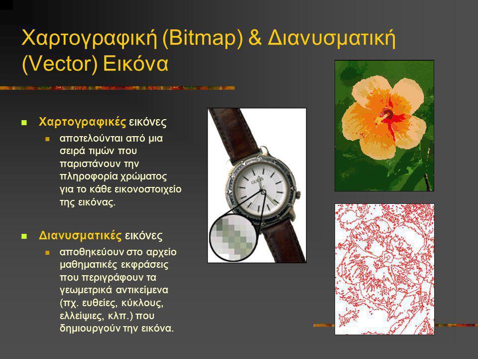 Χαρτογραφική (Bitmap) & Διανυσματική (Vector) Εικόνα