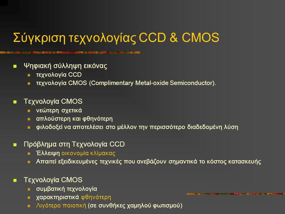 Σύγκριση τεχνολογίας CCD & CMOS