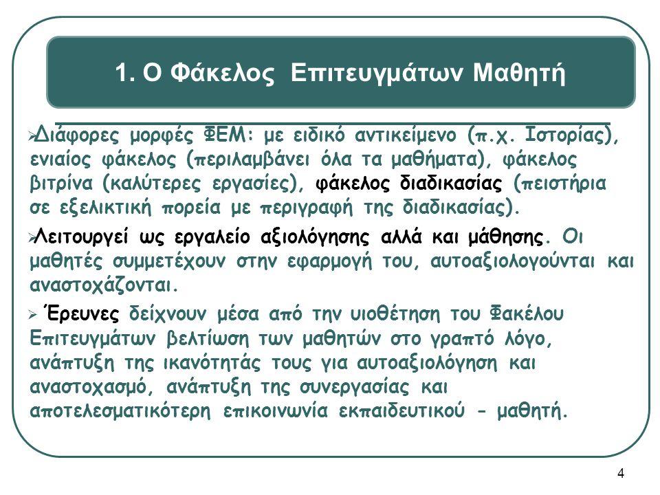 1. Ο Φάκελος Επιτευγμάτων Μαθητή