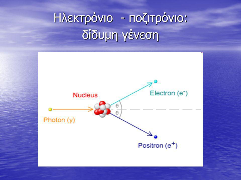 Ηλεκτρόνιο - ποζιτρόνιο: δίδυμη γένεση