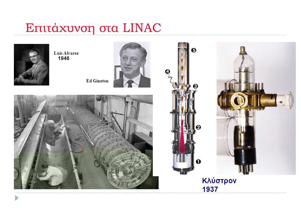 Επιτάχυνση στα LINAC Κλύστρον 1937 1946 Luis Alvarez Ed Ginzton