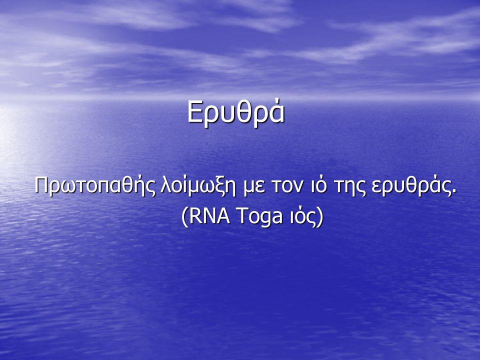 Πρωτοπαθής λοίμωξη με τον ιό της ερυθράς. (RNA Toga ιός)