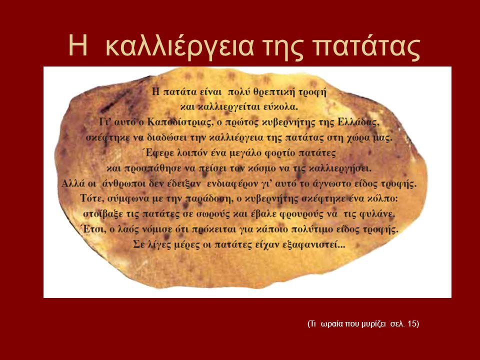 H καλλιέργεια της πατάτας