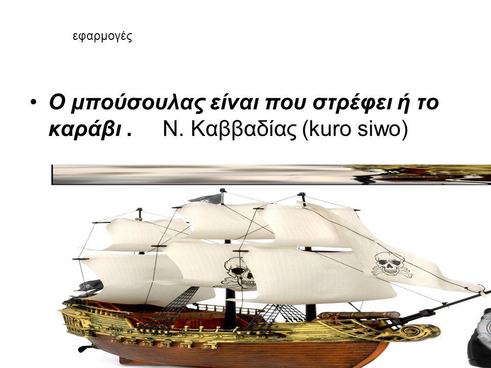 Ο μπούσουλας είναι που στρέφει ή το καράβι . Ν. Καββαδίας (kuro siwo)