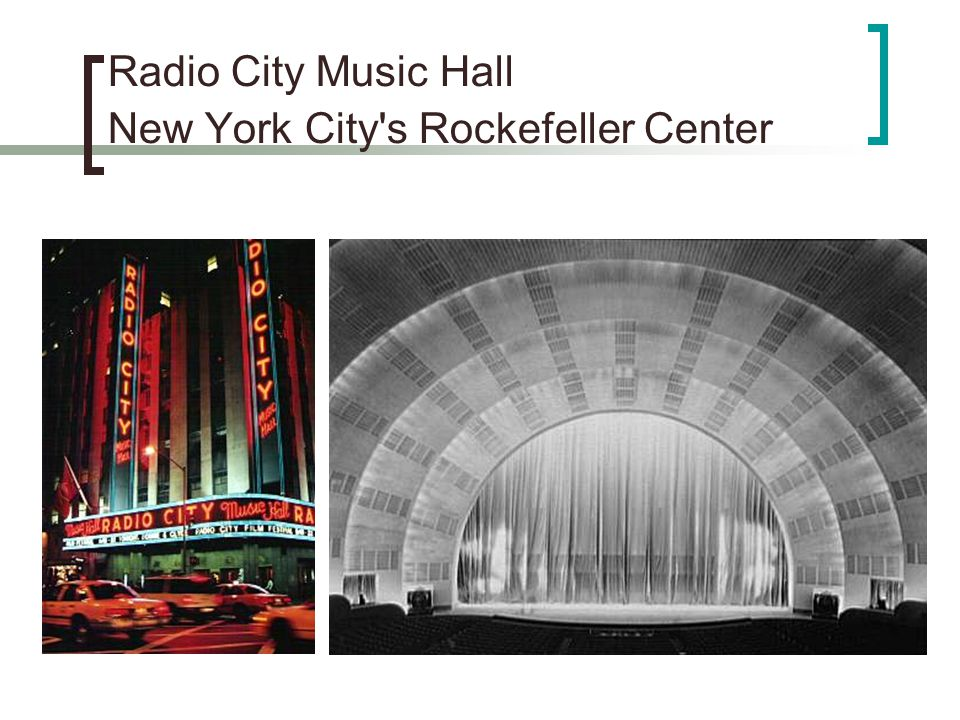 Radio City Music Hall New York City s Rockefeller Center