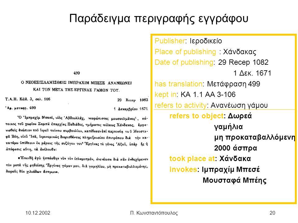 Παράδειγμα περιγραφής εγγράφου