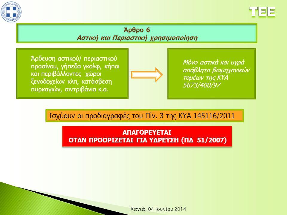 Άρθρο 6 Αστική και Περιαστική χρησιμοποίηση