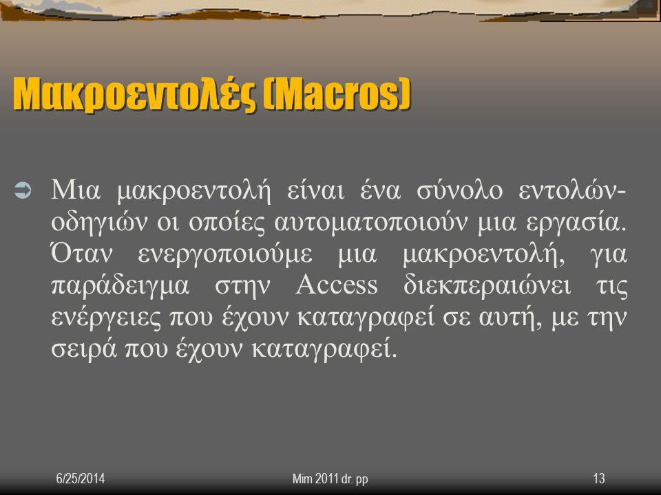 Μακροεντολές (Macros)