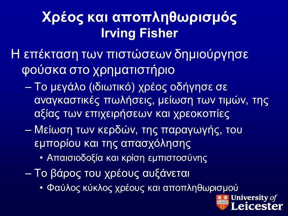 Χρέος και αποπληθωρισμός Irving Fisher