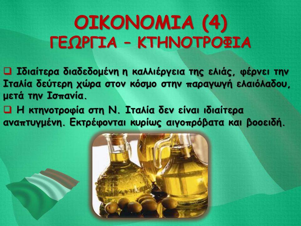 ΟΙΚΟΝΟΜΙΑ (4) ΓΕΩΡΓΙΑ – ΚΤΗΝΟΤΡΟΦΙΑ