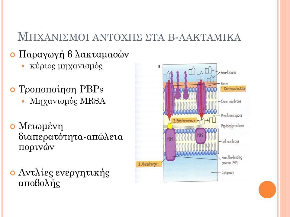 Μηχανισμοι αντοχησ στα β-λακταμικα