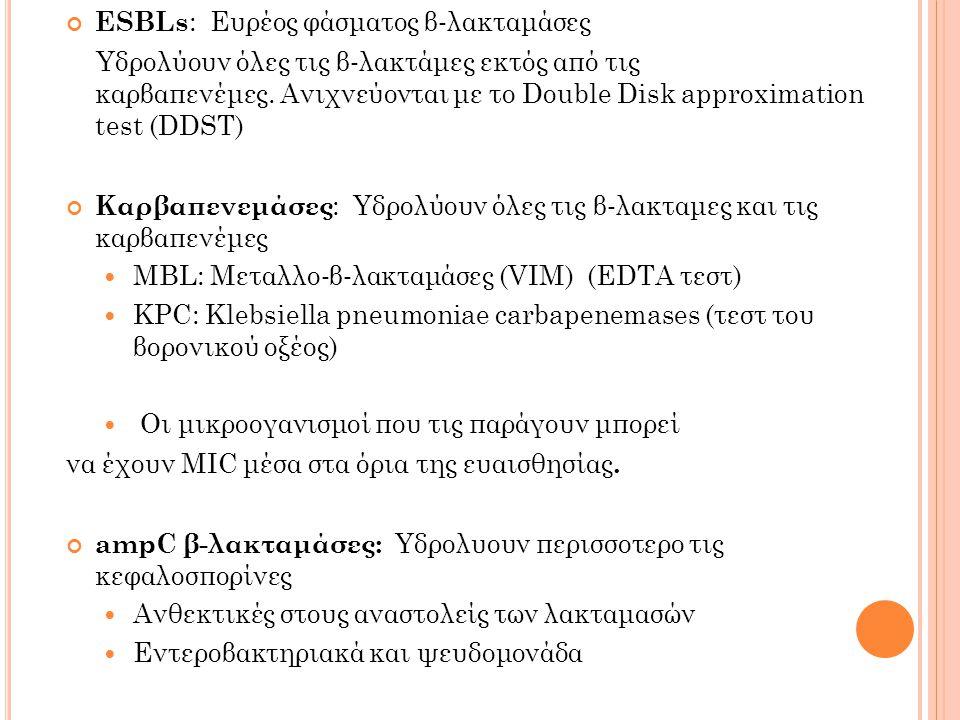 ESBLs: Ευρέος φάσματος β‐λακταμάσες