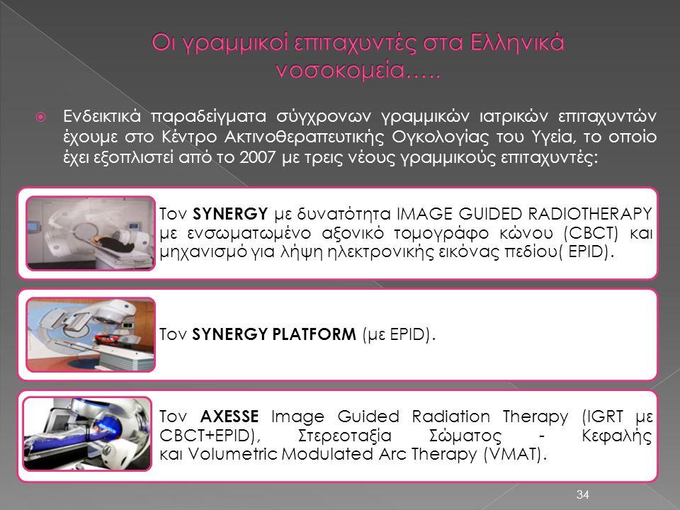 Οι γραμμικοί επιταχυντές στα Ελληνικά νοσοκομεία…..