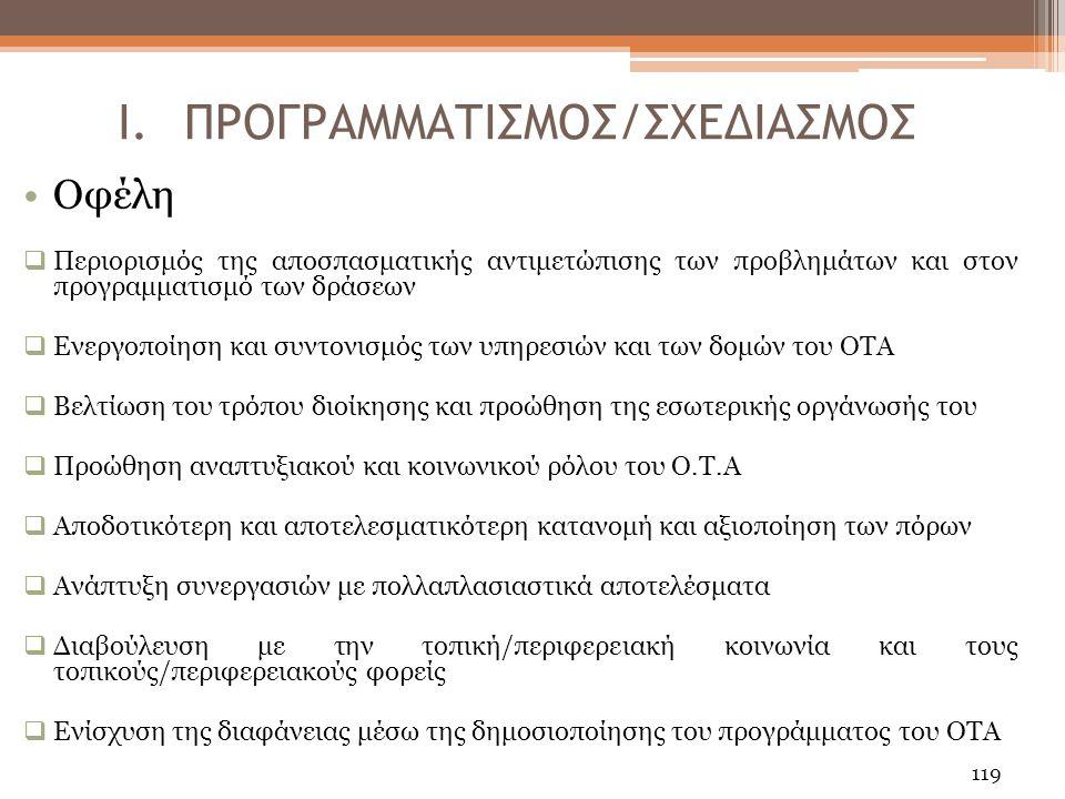 ΠΡΟΓΡΑΜΜΑΤΙΣΜΟΣ/ΣΧΕΔΙΑΣΜΟΣ