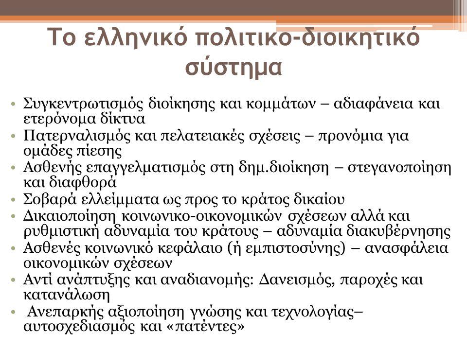 Το ελληνικό πολιτικο-διοικητικό σύστημα