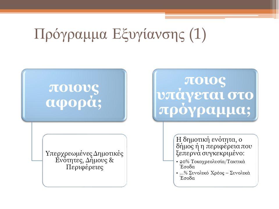 Πρόγραμμα Εξυγίανσης (1)