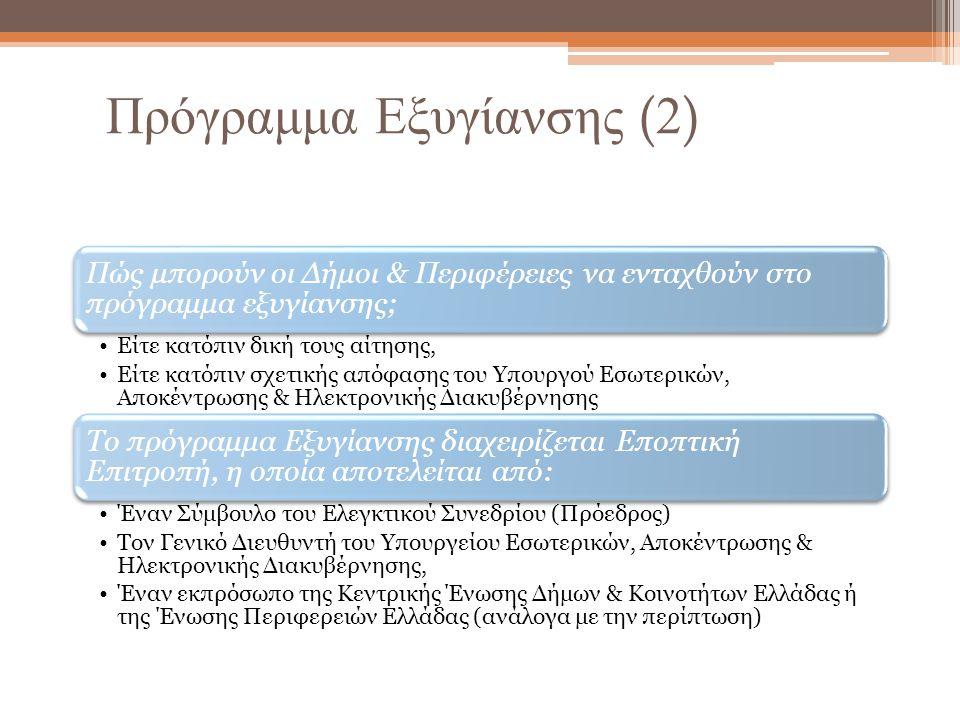 Πρόγραμμα Εξυγίανσης (2)