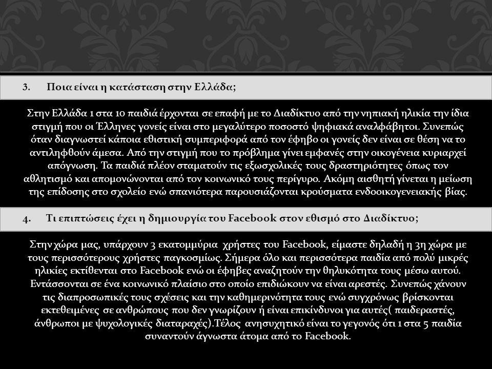 3. Ποια είναι η κατάσταση στην Ελλάδα;