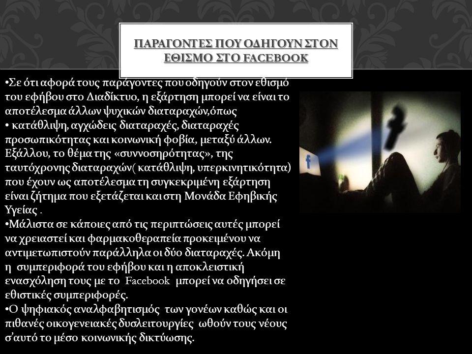 Παραγοντεσ που οδηγουν στον εθισμο στο facebook