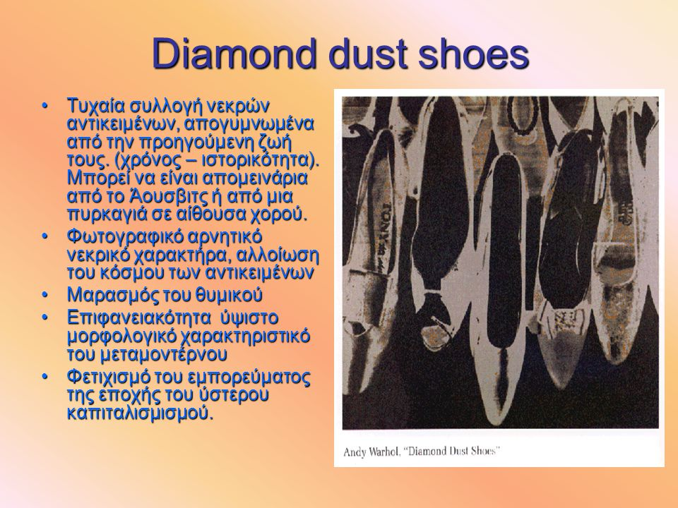 Diamond dust shoes