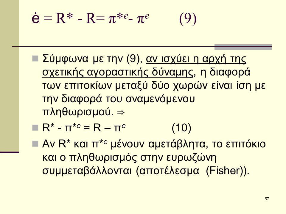 ė = R* - R= π*e- πe (9)