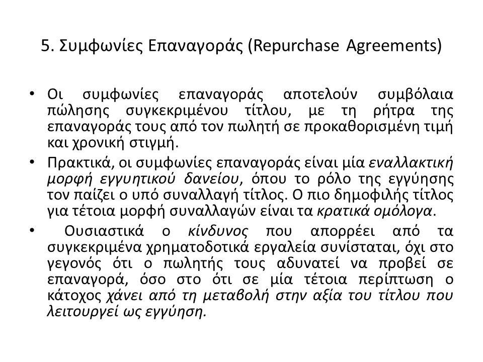 5. Συμφωνίες Επαναγοράς (Repurchase Agreements)