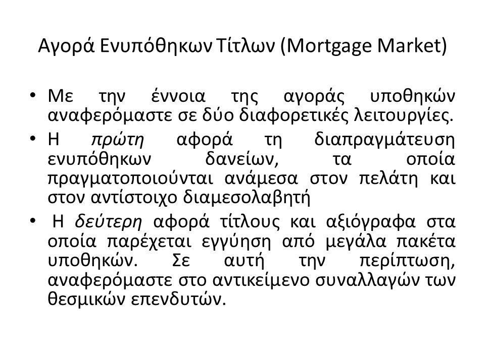 Αγορά Ενυπόθηκων Τίτλων (Mortgage Market)