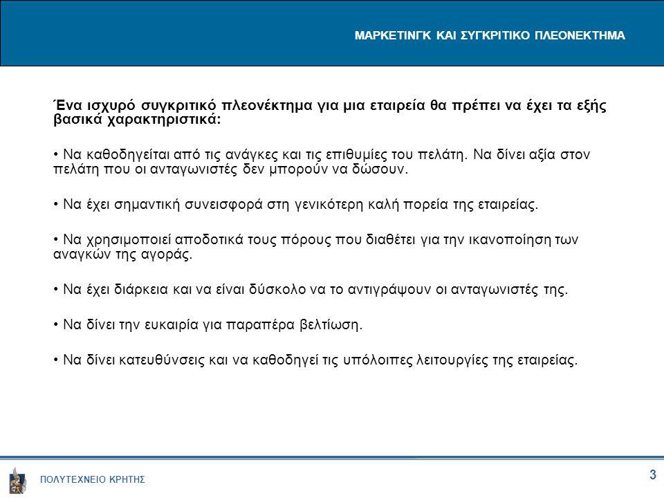 ΜΑΡΚΕΤΙΝΓΚ ΚΑΙ ΣΥΓΚΡΙΤΙΚΟ ΠΛΕΟΝΕΚΤΗΜΑ