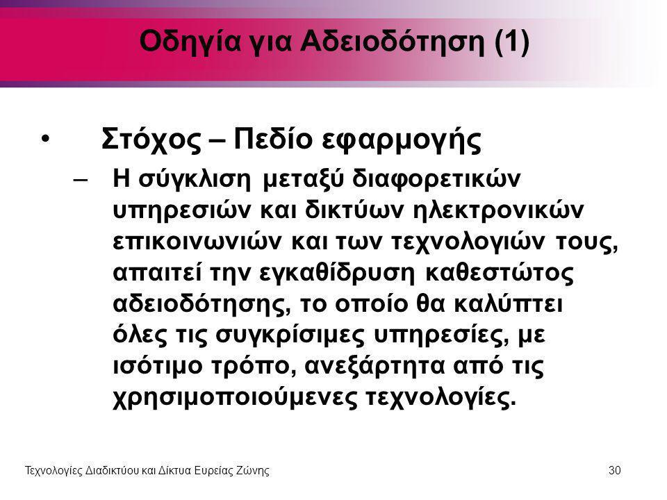 Οδηγία για Αδειοδότηση (1)