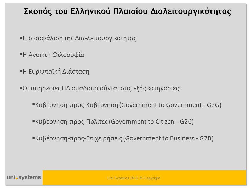 Σκοπός του Ελληνικού Πλαισίου Διαλειτουργικότητας